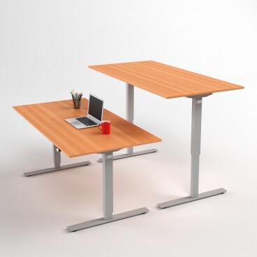hoj-och-sankbart-skrivbord-silver-stativ-och-bok-skiva